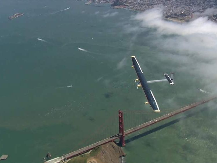The Solar-Powered Plane That Will Circle Globe