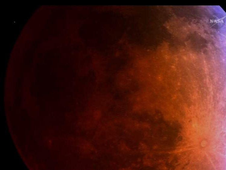 Blood moon seen from Arizona