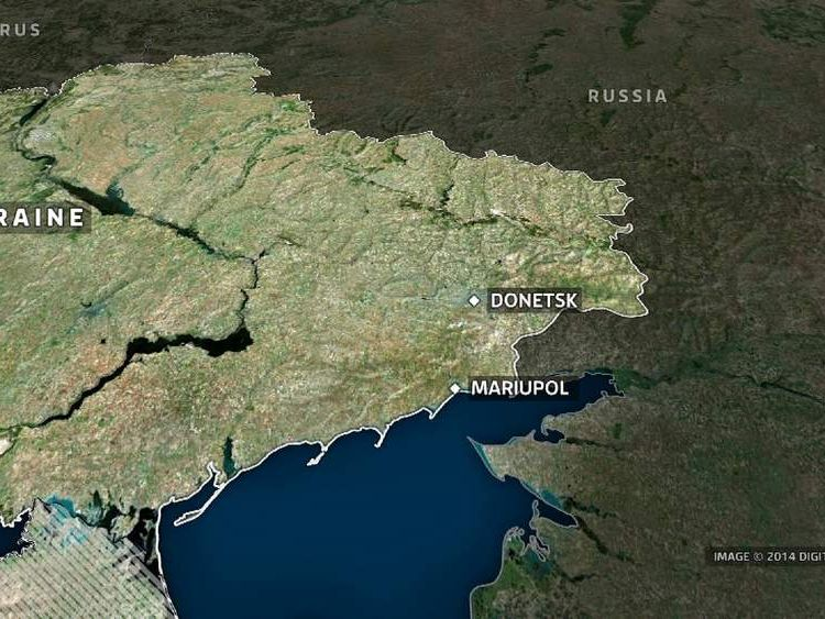 Map of Ukraine, including Mariupol