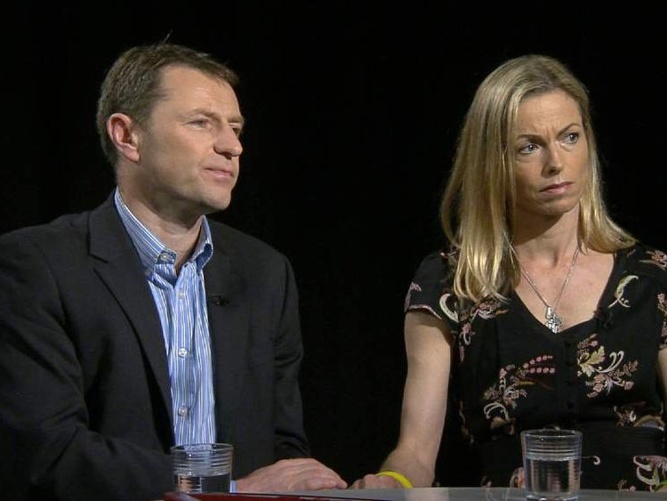 Kate and Gerry McCann, the parents of missing Madeleine