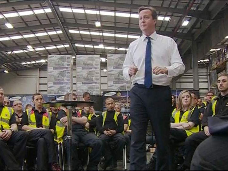PM David Cameron speaks in Newark
