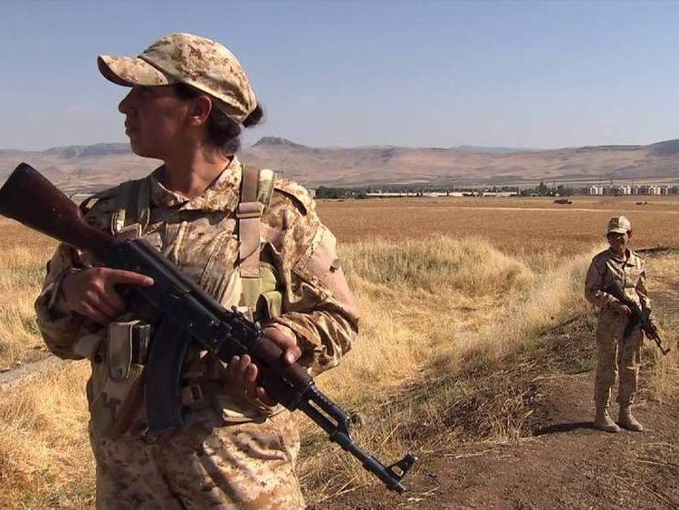Female Peshmerga in Kurdistan northern Iraq