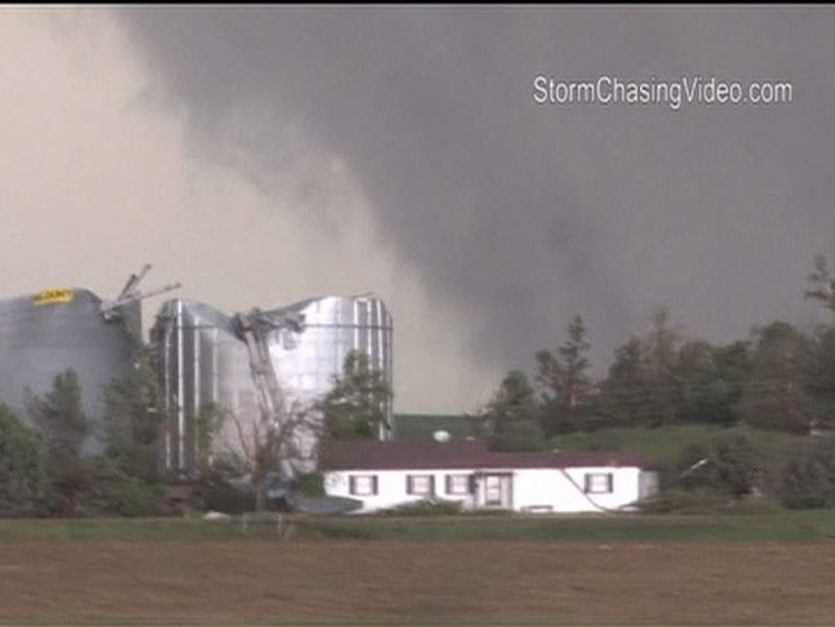 Twin Tornadoes Hit In Nebraska