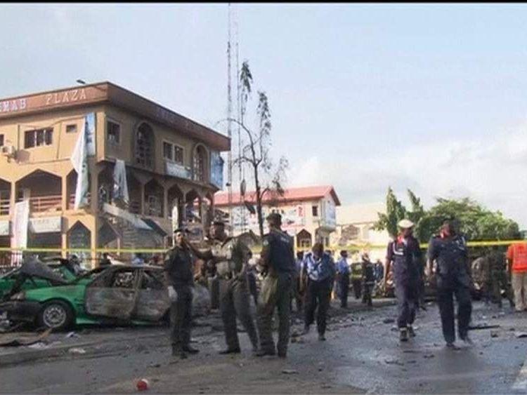 Scene of bomb blast at Emab Plaza in Nigerian capital Abuja 2