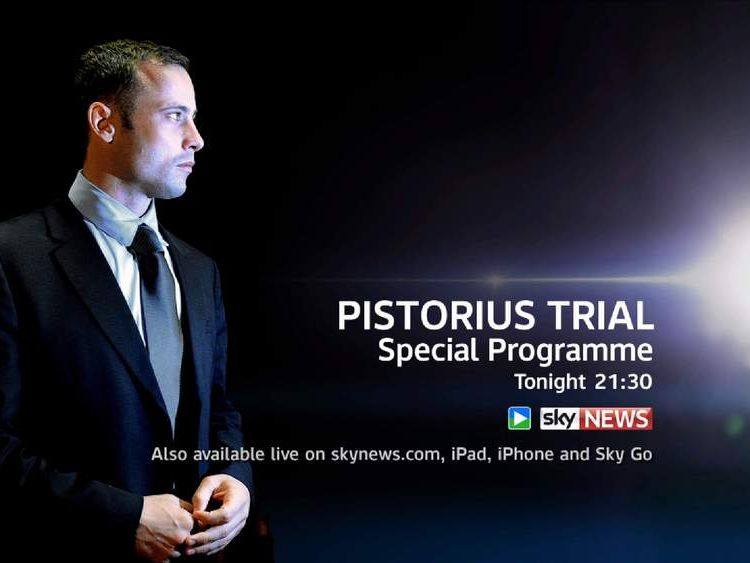 Watch a special programme on the Oscar Pistorius murder trial at 9.30pm tonight on Sky News