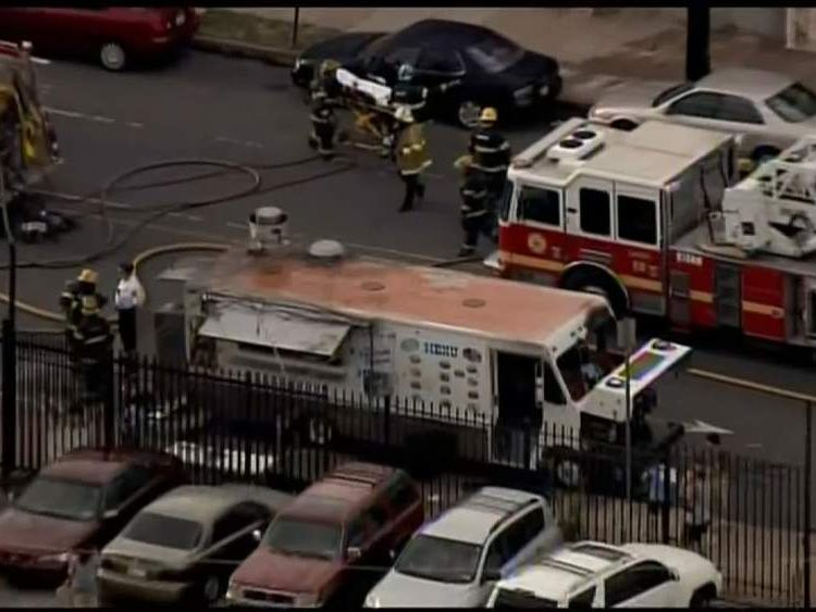A Mexican food truck explodes in a Philadelphia street