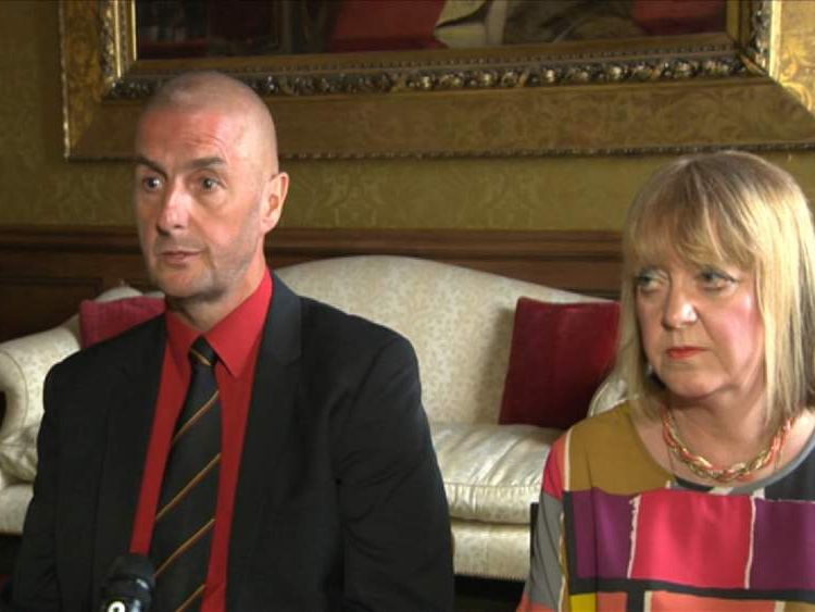 Barry and Angela Sweeney whose son Liam was killed on MH17