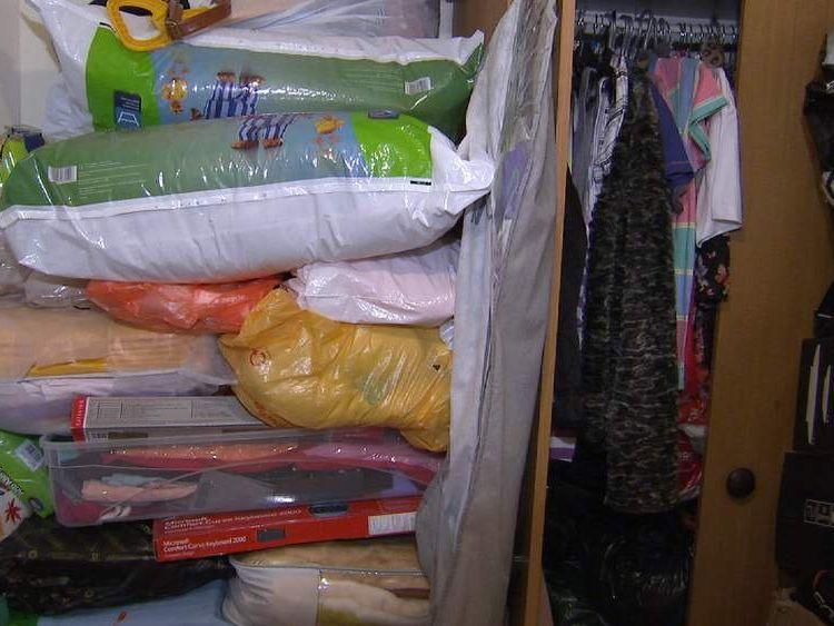 A cramped room