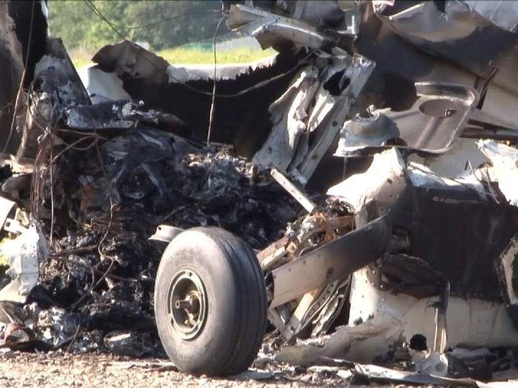 Plane crash in rural Ohio