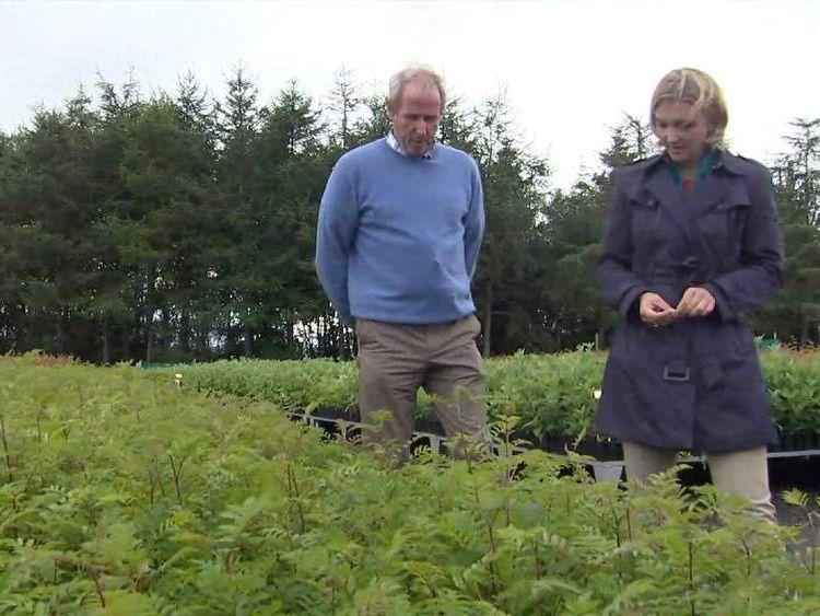 Farm owner Harry Frew and Sky's Poppy Trowbridge