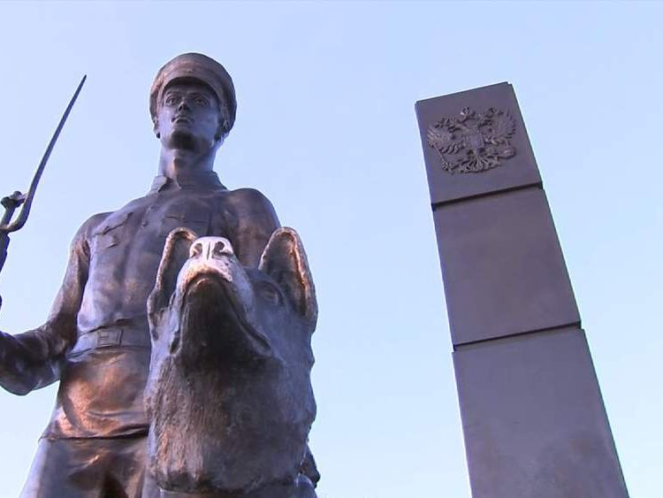 Statue of Russian guard