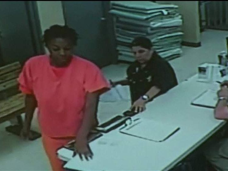 CCTV footage of Sandra Bland in Waller County Jail has been released