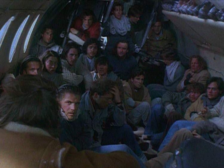 Scene in plane from Alive film