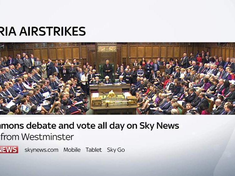 Syria Airstrikes debate and vote