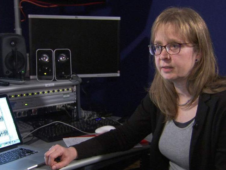 Forensic speech analyst Dr Frederika Holmes talking to Sky News IS video