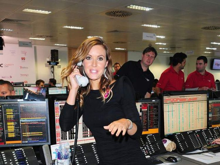Charlie Webster on the trading floor during the BGC Partners Charity Day
