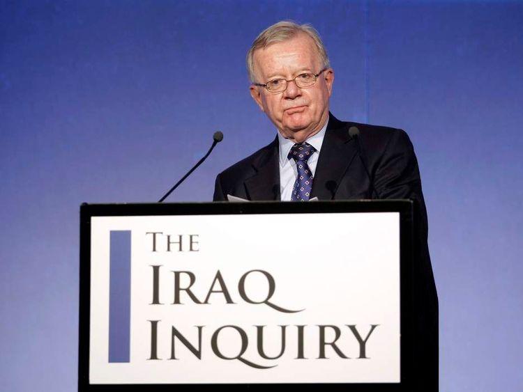 John Chilcot, chairman of the Iraq Inquiry