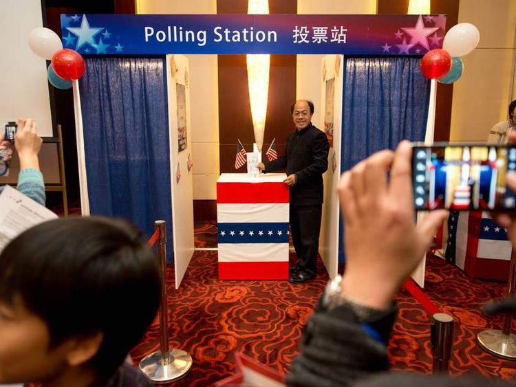 Mock Polling station China