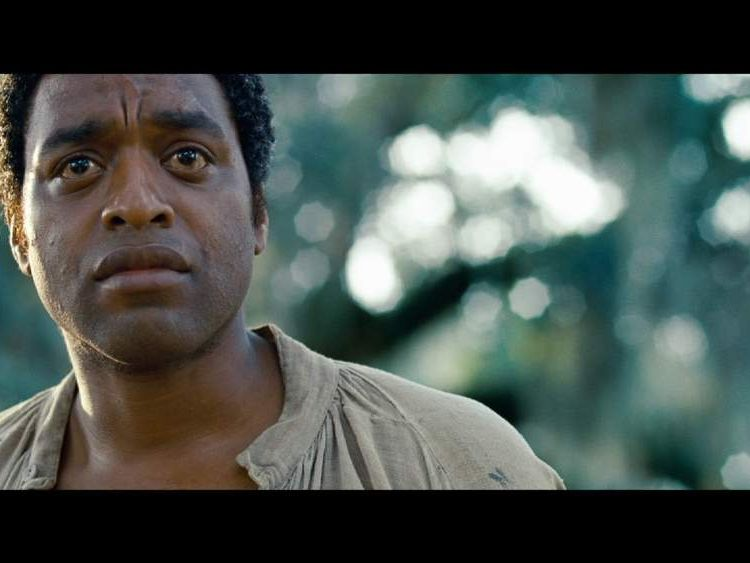 A film still of Chiwetel Ejiofor from 12 Years A Slave