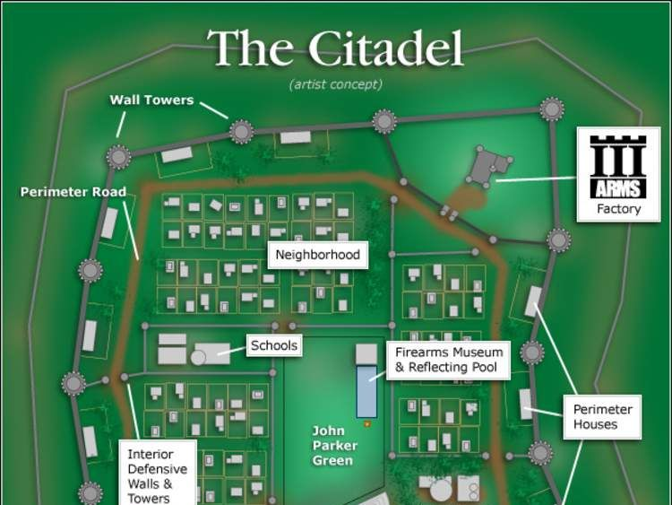 The community's planned layout (iiicitadel.com)