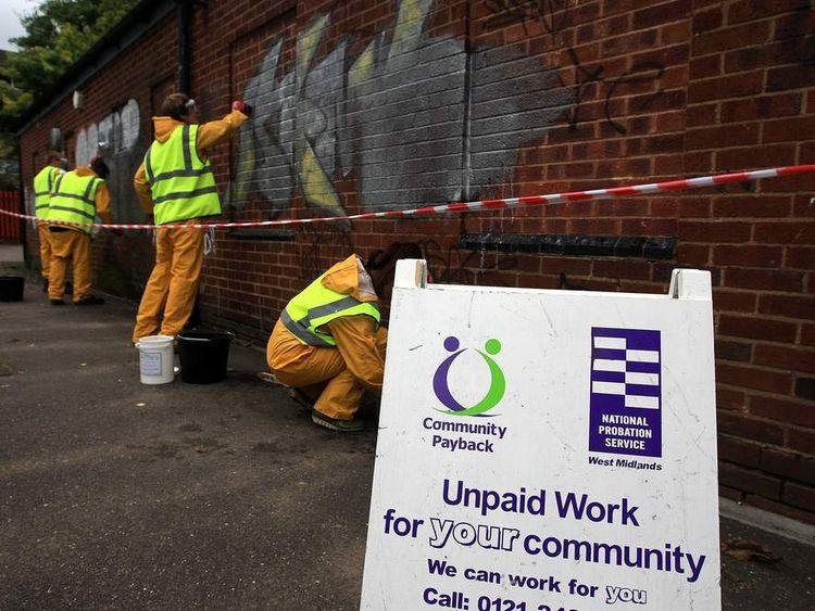 Community service graffiti clean-up