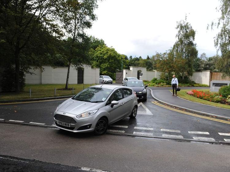 Sir Cliff Richard investigation - cars leave Charters Estate