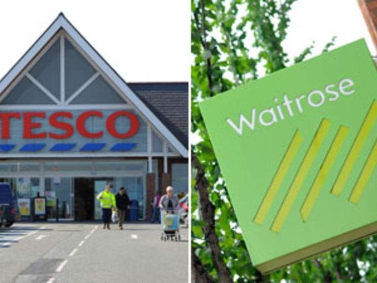 Tesco and Waitrose.