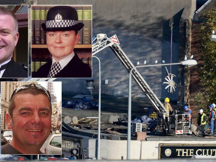 Glasgow helicopter crash victims Tony Collins, Kirsty Nelis, Dave Traill,