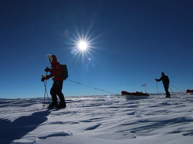 Prince Harry and veterans Antarctic charity trek