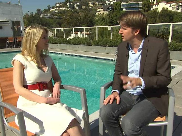 Lucy Cotter with Tom Hooper