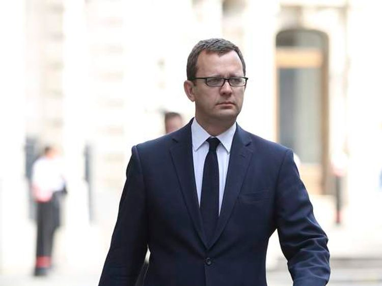 Former Editor of the News of the World Andy Coulson arrives at the Old Bailey in central London