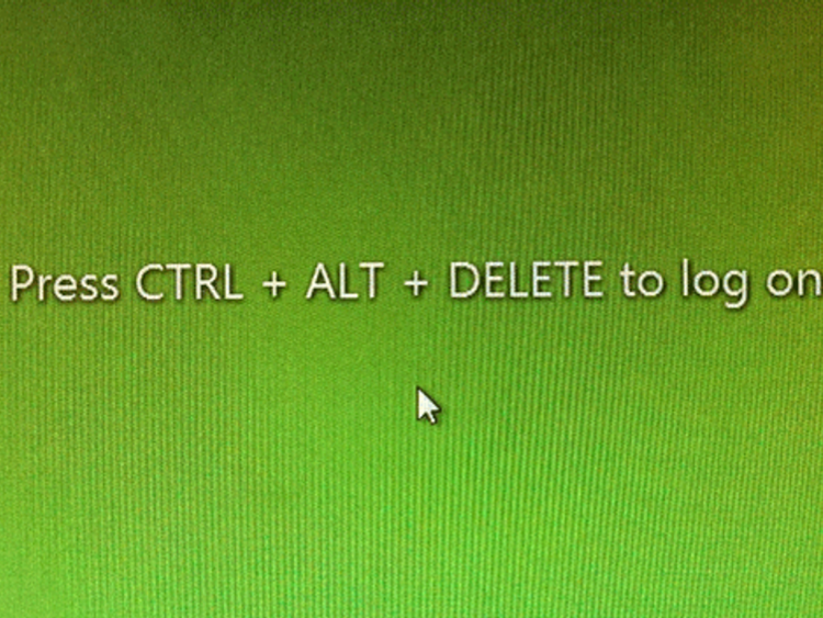 CTRL ALT DELETE log on screen