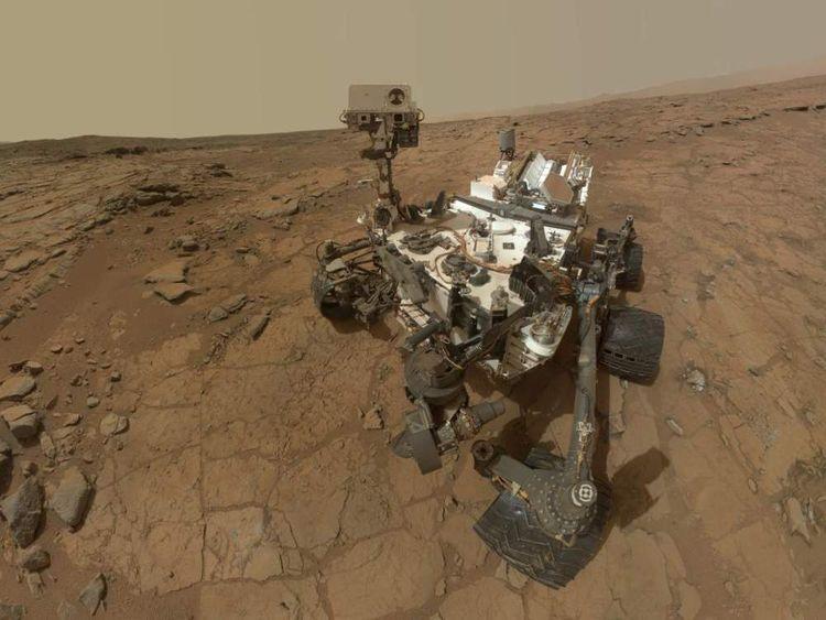 A self-portrait by Nasa's Curiosity rover on Mars