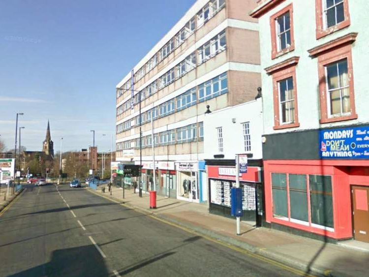 The attack happened in Darlington Street, Wolverhampton. Pic: Google Street View