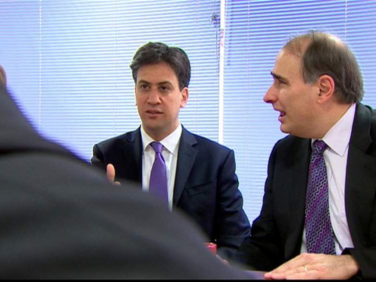 Ed Miliband and David Axelrod
