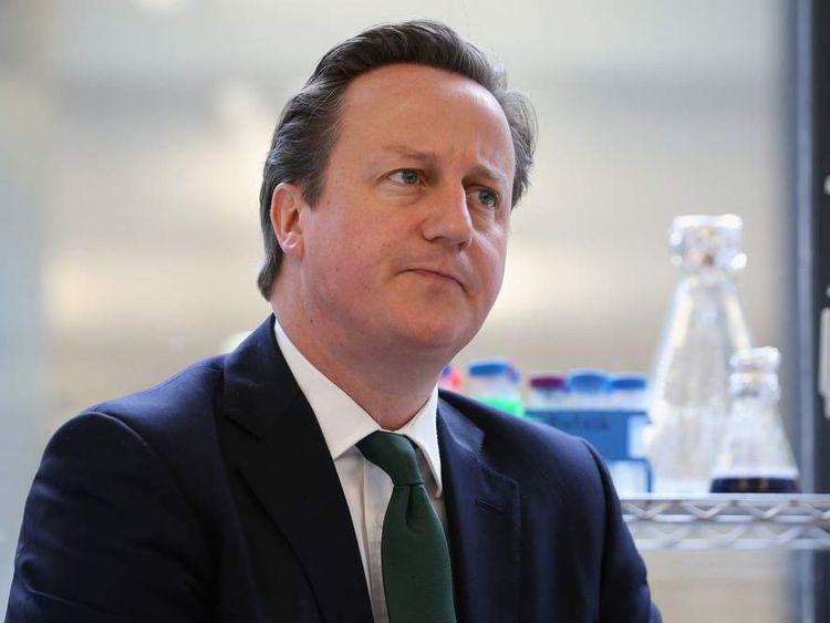 David Cameron visiting Oxford University