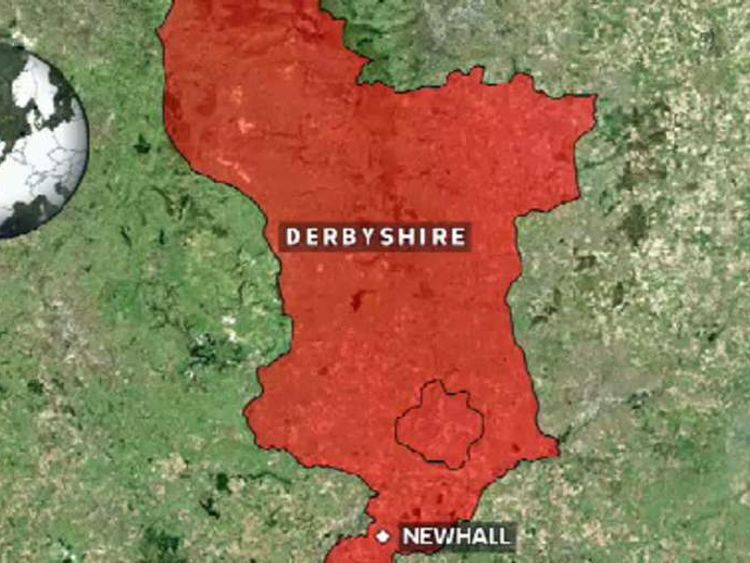 Newhall, Derbyshire, map