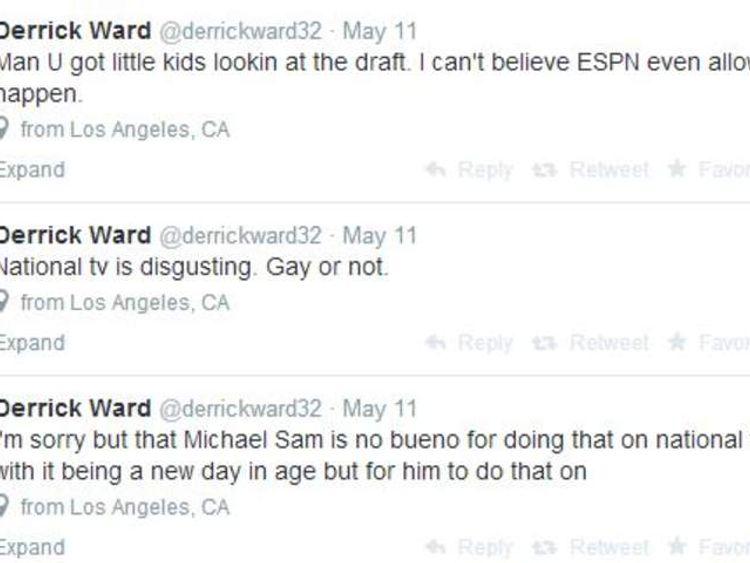 Derrick tweets