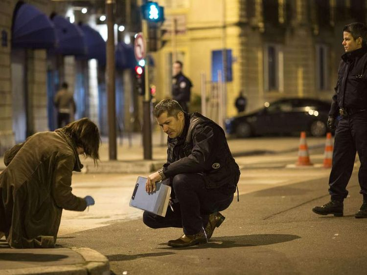The scene in Dijon where a driver drove into a group