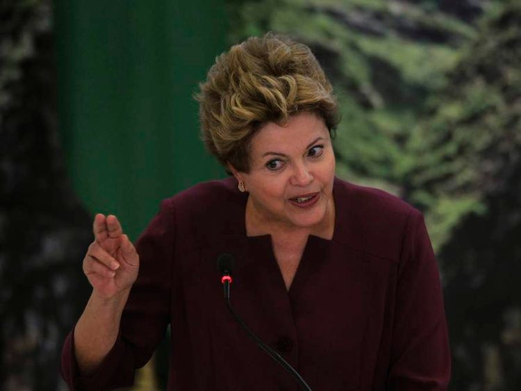 Brazil's President Rousseff speaks during a ceremony announcing Brazil's new mining bill at Planalto Palace in Brasilia