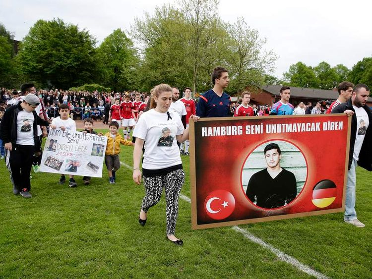 Diren Dede's friends and family in Hamburg are mourning his death