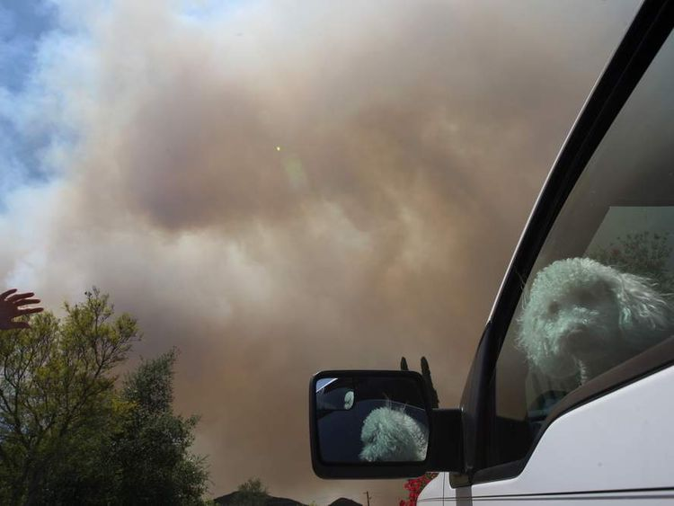 Wildfire Forces Evacuation Of Thousands In San Diego Area