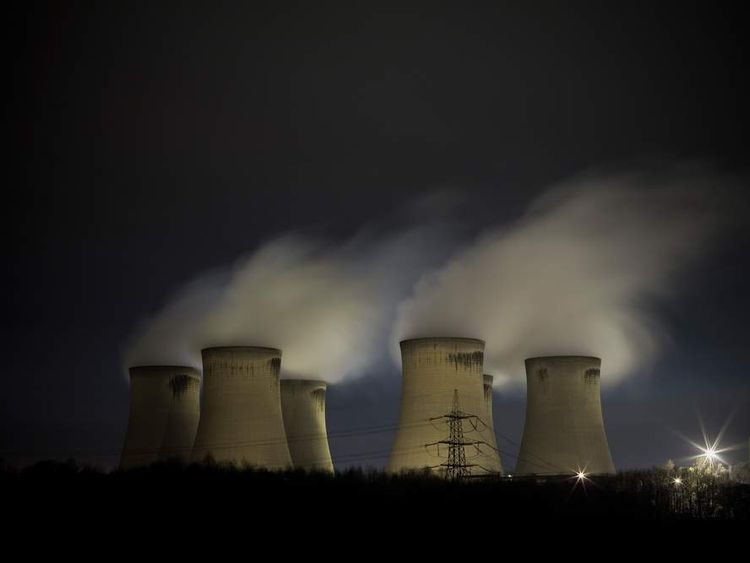 DRAX: Drax Power Station By Night