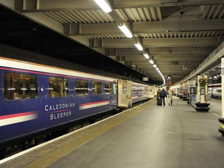 The Caledonian Sleeper train