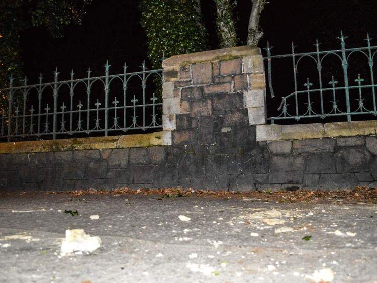 Debris from the blast near City Cemetery. pic: Press Pix / Samuel Severn