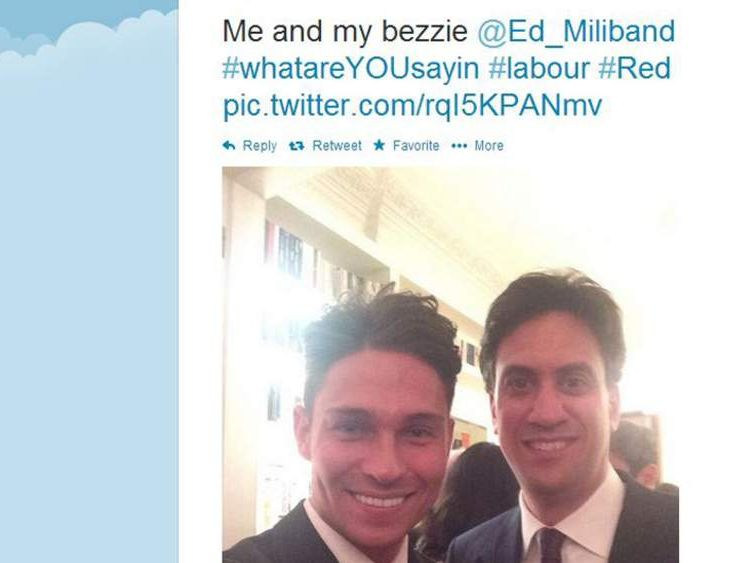 Joey Essex and Ed Miliband