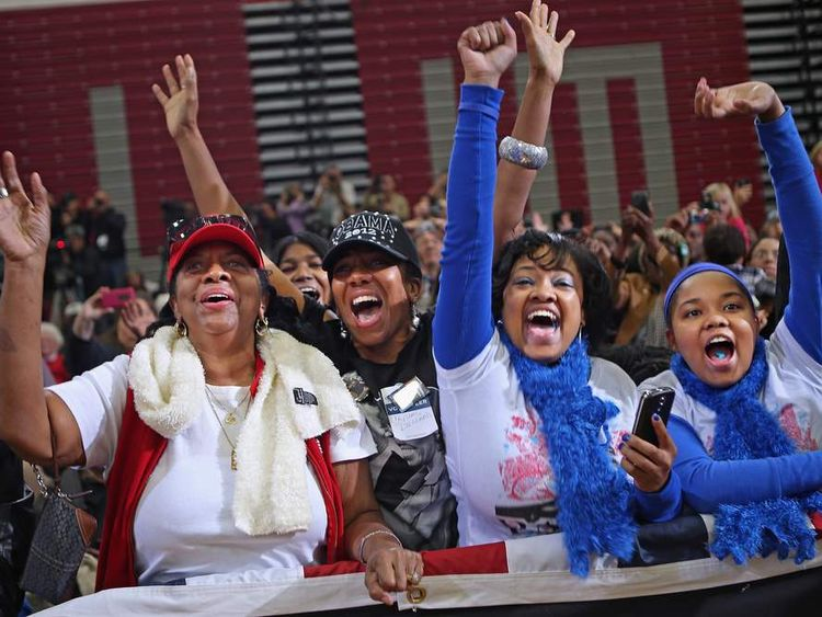 Mr Obama has stirred up support from cheering fans