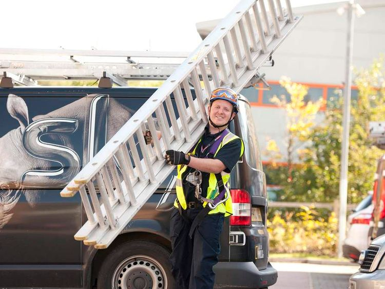 A BSkyB installation worker