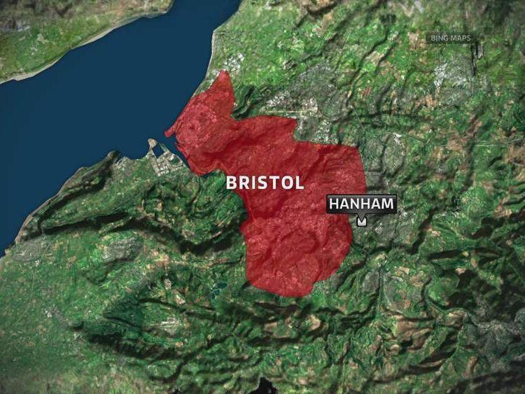 Map showing Hanham in Bristol