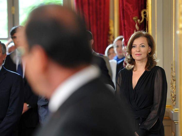 Valerie Trierweiler Watches President Hollande